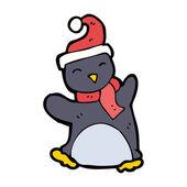 面白い漫画のペンギン — ストックベクタ