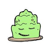 Happy jelly cartoon — Stock Vector