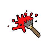 Messy paint brush cartoon — Stock Vector