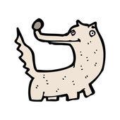 Happy wolf cartoon — Stock Vector