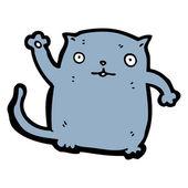 Cat waving cartoon — Stock Vector