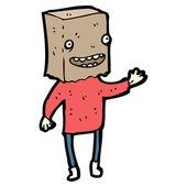 Paper bag on head cartoon — Stock Vector