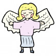 cartoon angel — Vector de stock  #16290557