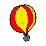 Hot air balloon cartoon — Stock Vector