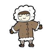 Eskimo cartoon — Stock Vector