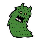 Hairy green monster cartoon — Stock Vector