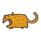 Caricature de gros chat béant — Vecteur