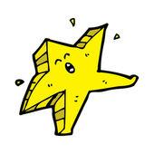 Dancing star cartoon character — Stock Vector