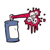 Graffiti skull cartoon — Stockvektor