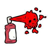 Graffiti skull cartoon — Stock Vector