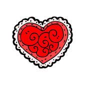 Fancy heart cartoon — Stock Vector