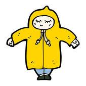 Person in raincoat cartoon — Stock Vector