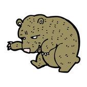 Pretty bear cartoon — Stock Vector