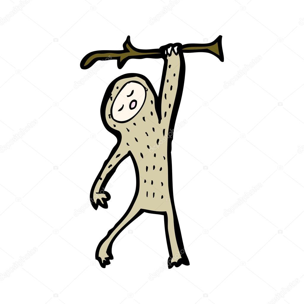 Cartone animato bradipo — vettoriali stock
