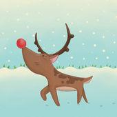 Prancing reindeer — Stock Photo