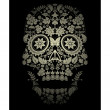 Day of the dead skull spooky background — Stock Vector