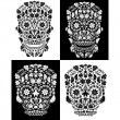 Stock Vector: Day of the dead skull collection