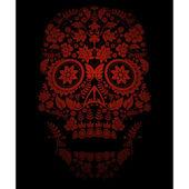 Cartoon spooky skull background — Stock Vector