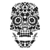 Day of the dead pattern — Stok Vektör