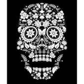 Day of the dead pattern — Stock Vector