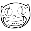 Royalty-Free Stock Vector Image: Funny cartoon cat face