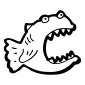 卡通食人鱼 — 图库矢量图片