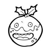 мультфильм рождественский пудинг — Cтоковый вектор