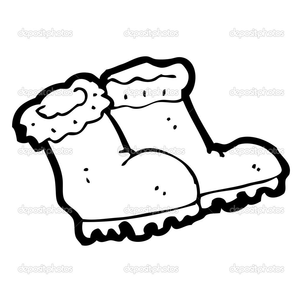 Bottes Dhiver De Dessin Anim 233 Image Vectorielle