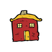 Dibujos animados de casa vieja tumbledown — Vector de stock