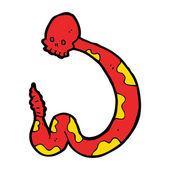 Spooky snake cartoon — Stock Vector