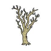 Cartoon of a tree with green foliage — Stock Vector
