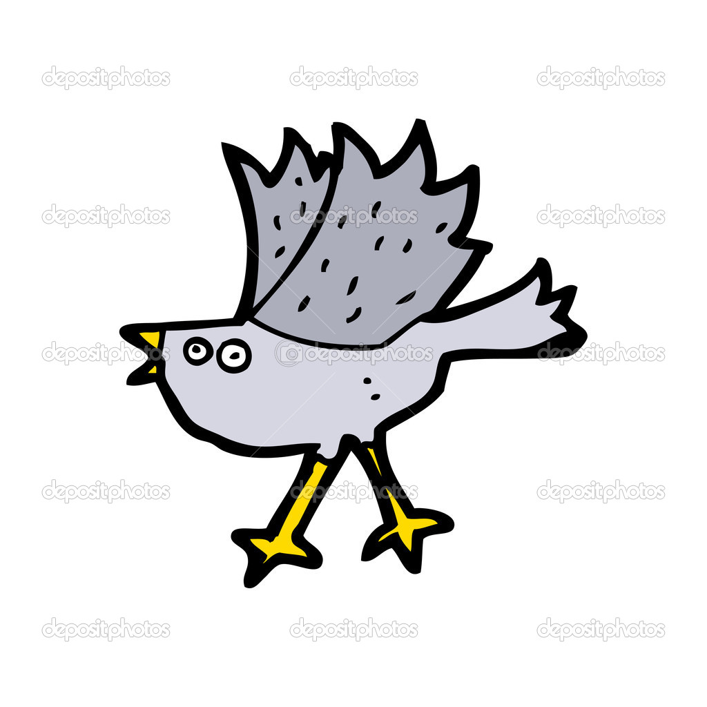 Flapping bird cartoon — Stock Vector © lineartestpilot ... - photo#13