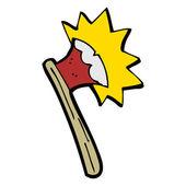 Cartoon sharp axe — Stock Vector