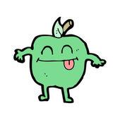 青苹果的吉祥物 — 图库矢量图片