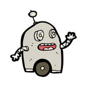 Glad liten robot cartoon — Stockvektor