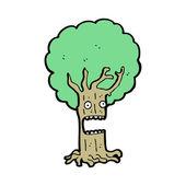 Shocked tree cartoon character — Stock Vector