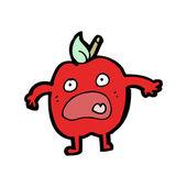 Cartoon shocked apple — Stock Vector
