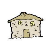 Kreslený rozpadající se staré chatě — Stock vektor