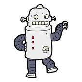 Dancing robot cartoon — Stock Vector