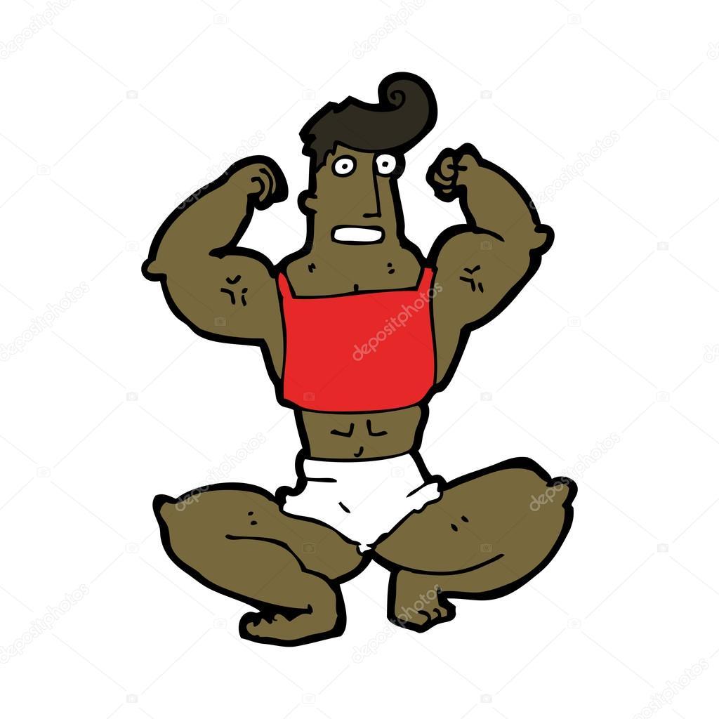 Cartoon body builder — Stock Vector #18510765