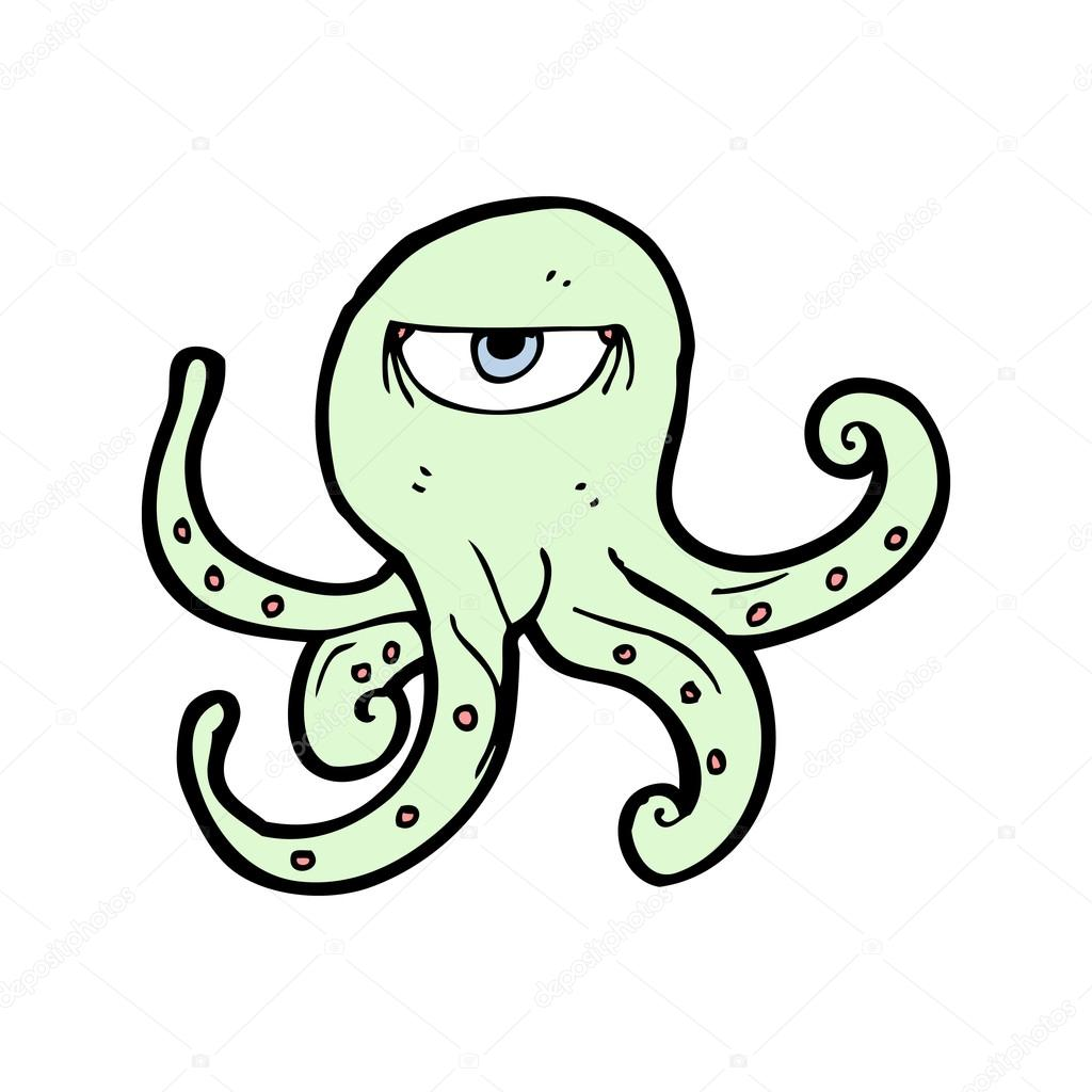 Evil octopus cartoon - photo#8