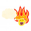 Royalty-Free Stock Vector Image: Flaming emoticon face cartoon