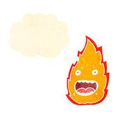 Personaje de dibujos animados fuego — Vector de stock