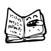 Caricature du livre sortilège — Vecteur