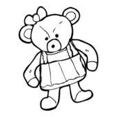 Bear cartoon — Stock Vector