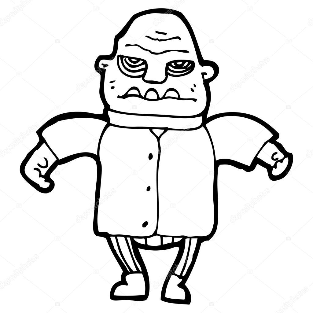 Ogre de dessin animé — Image vectorielle lineartestpilot © #19584077