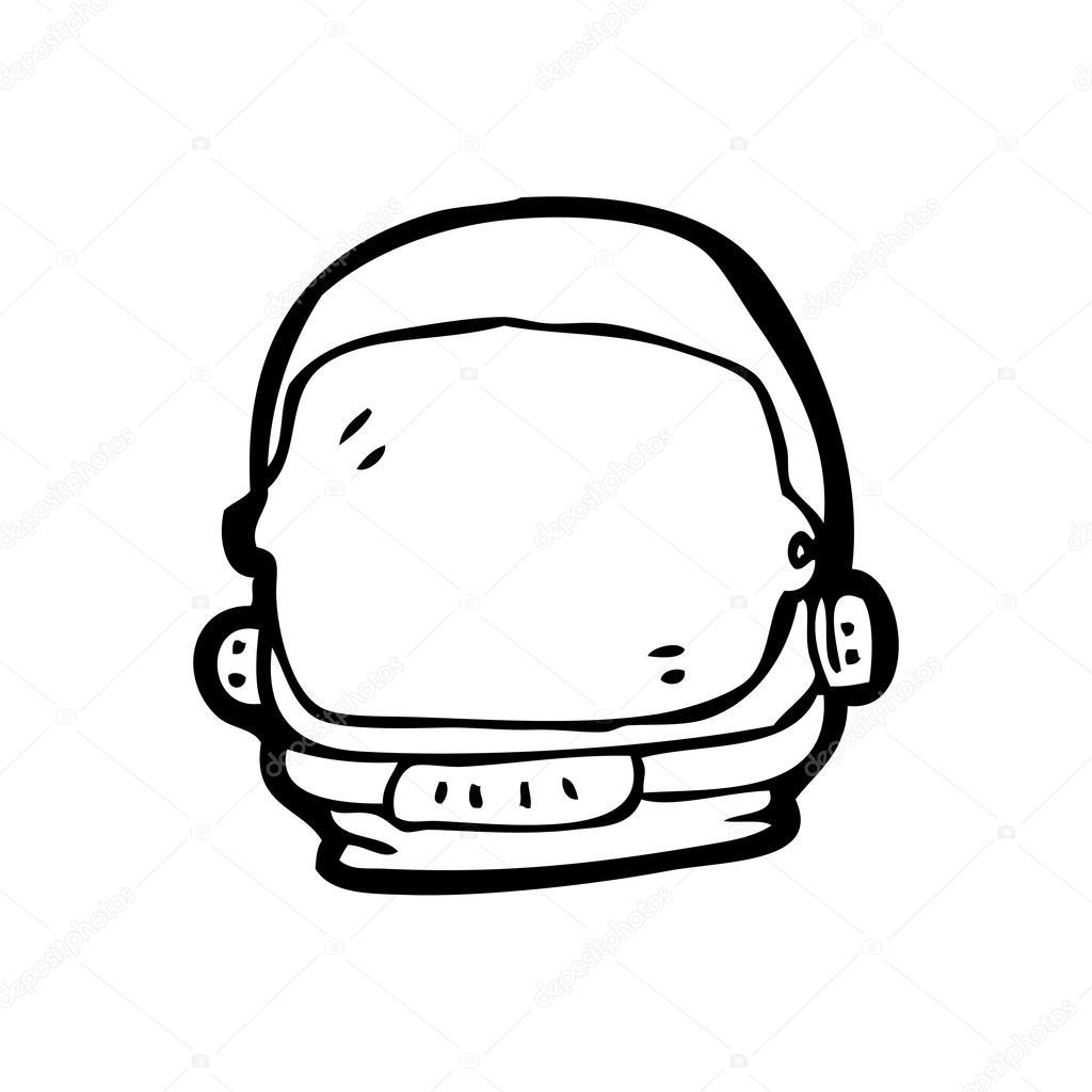 Vector  astronaut helmet