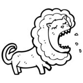 Roaring lion cartoon — Stock Vector