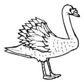 Swan drawing — Stock Vector