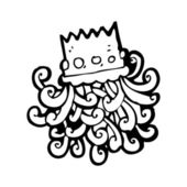 Crown cartoon — Stock Vector